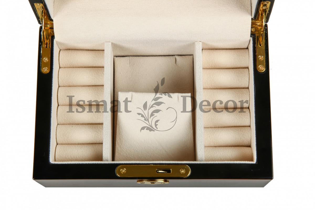 Деревянная шкатулка для украшений KPW-6138A коричневый