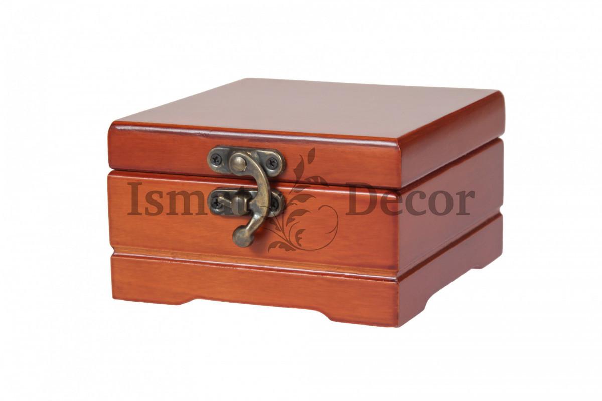 Деревянная шкатулка для украшений S-517 коричневый