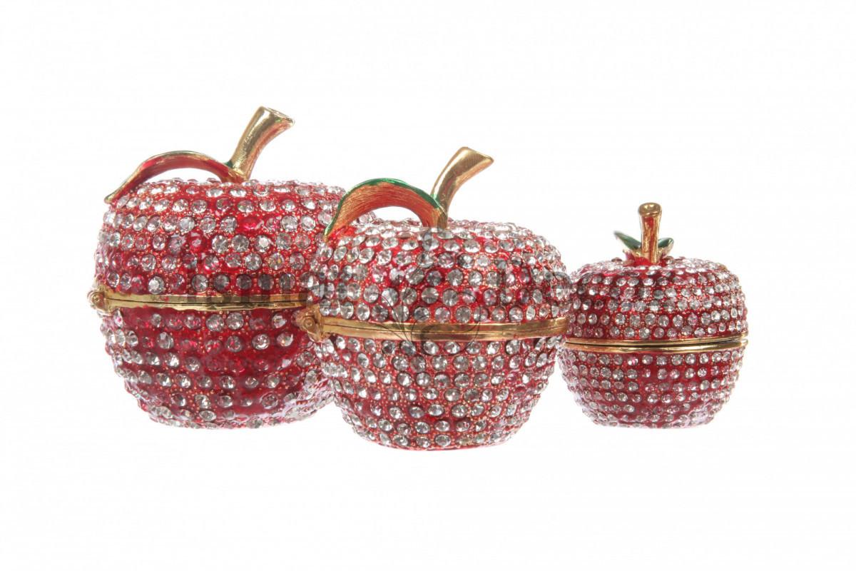 Набор из трёх шкатулок-яблочек