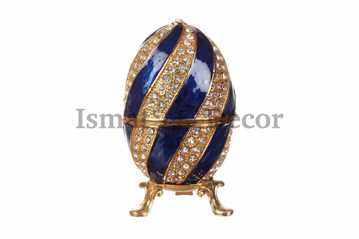 Шкатулка - яйцо с фигуркой Собор Василия Блаженного (Москва)