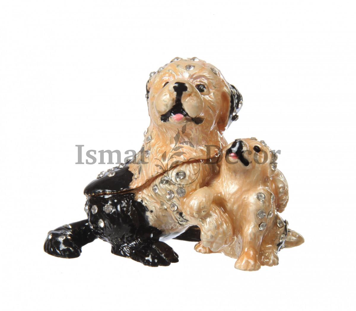 Шкатулка Собачка со щенком