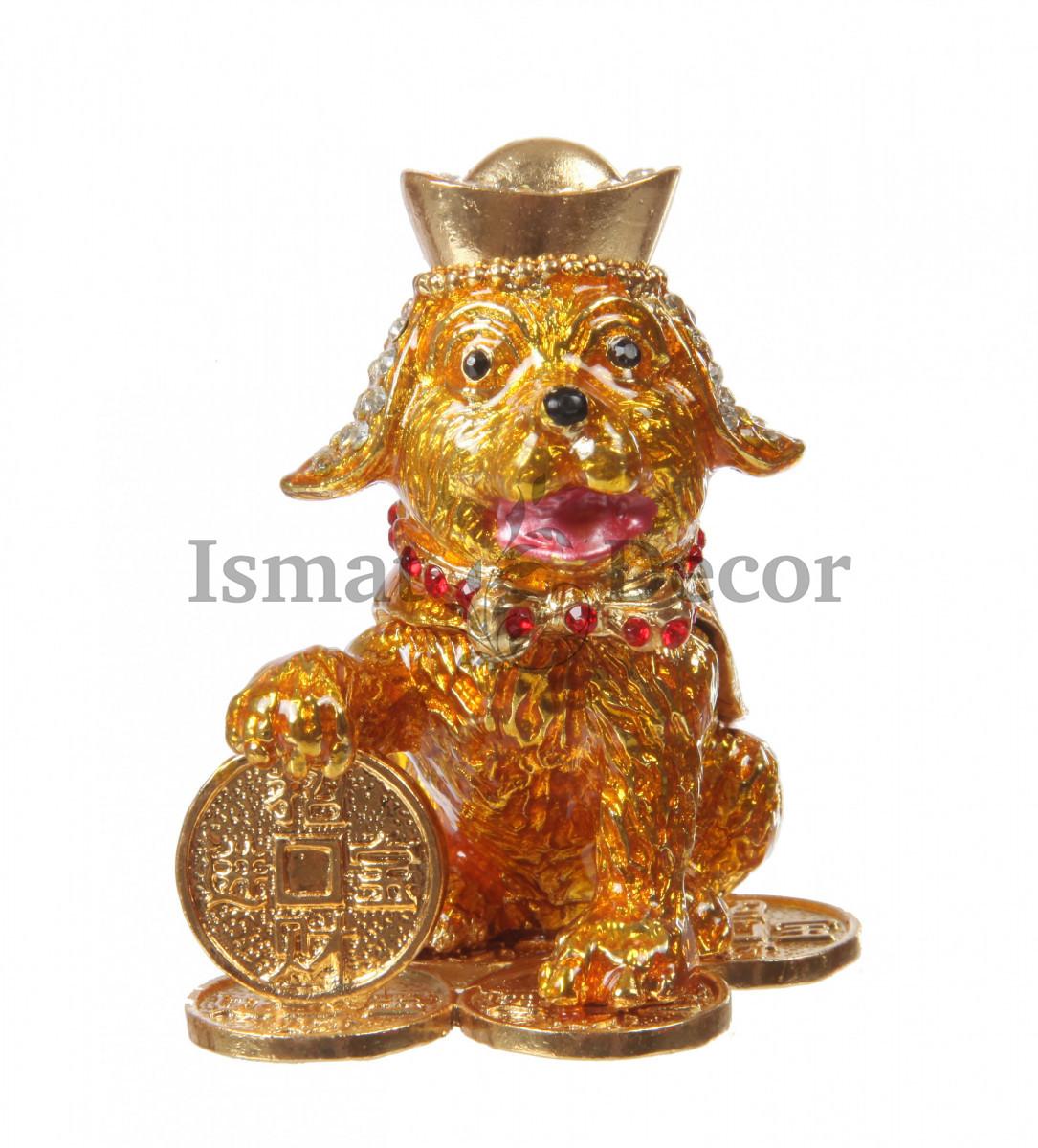 Шкатулка Собачка с монеткой - символ блогополучия