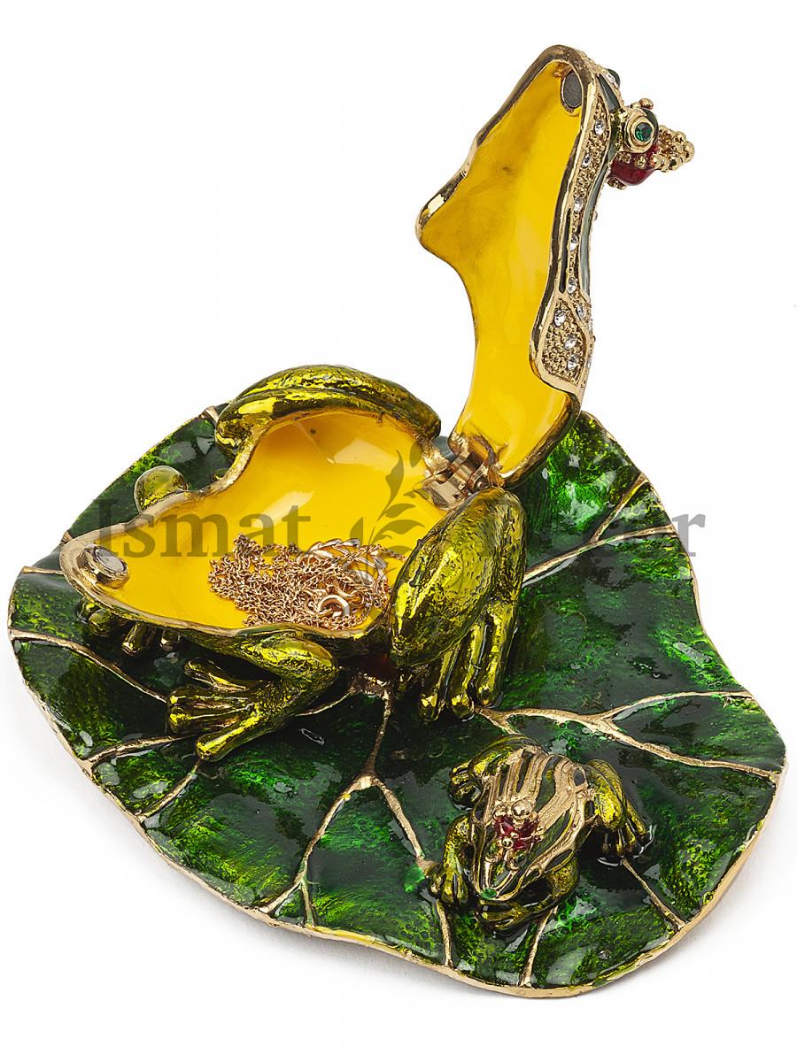Шкатулка Лягушка с лягушонком