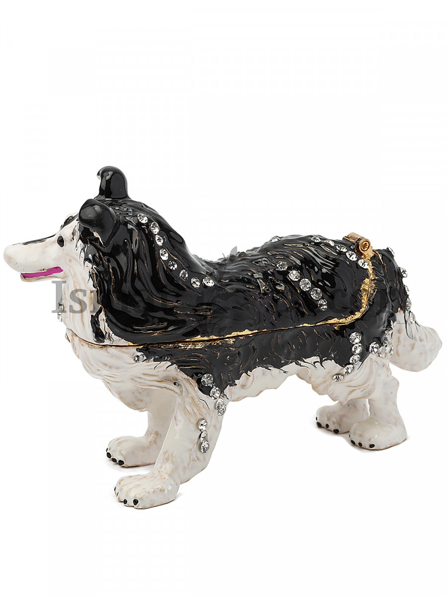 Шкатулка для украшений Собака Колли S-3210