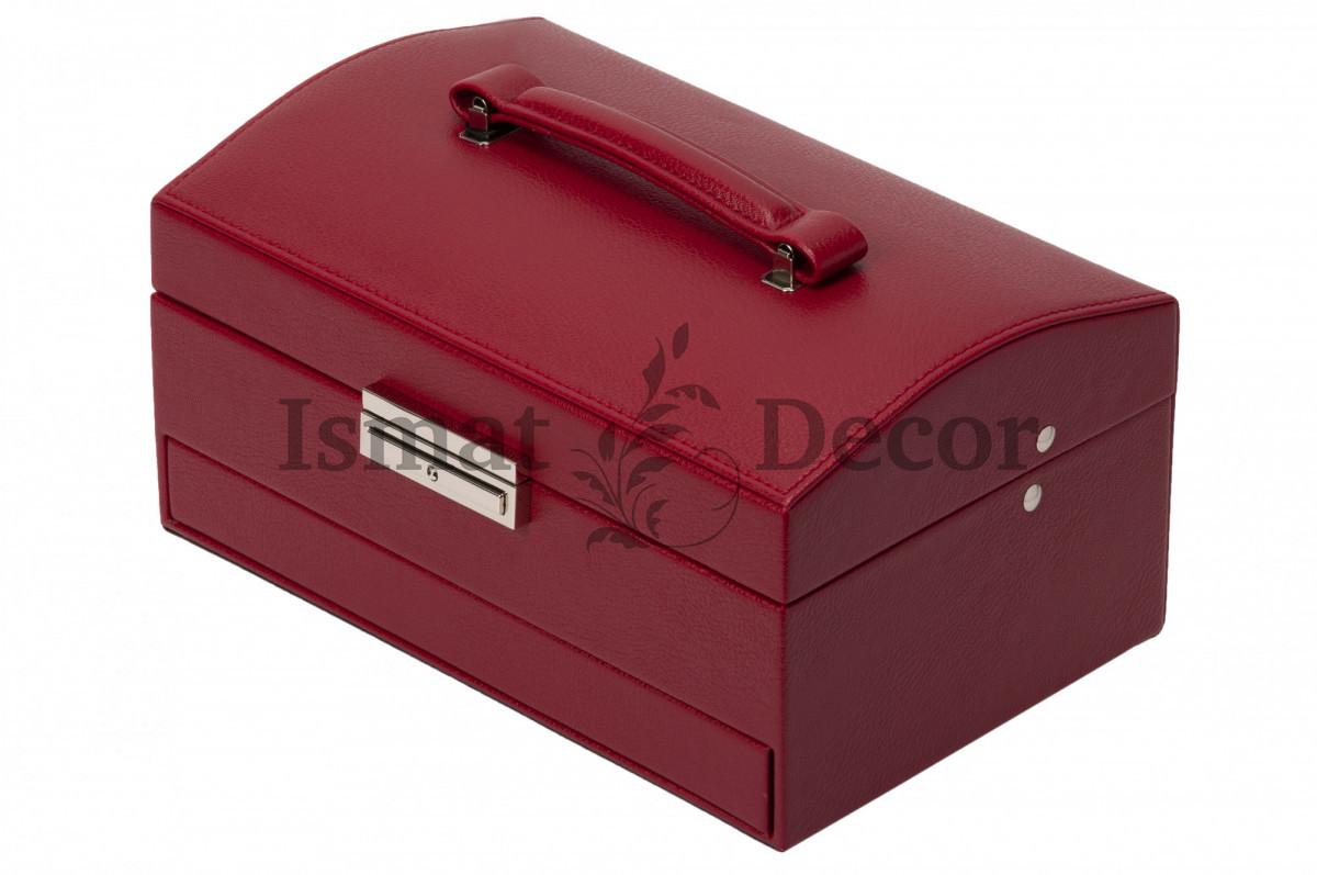 Шкатулка для украшений S-6209-4 бордовый