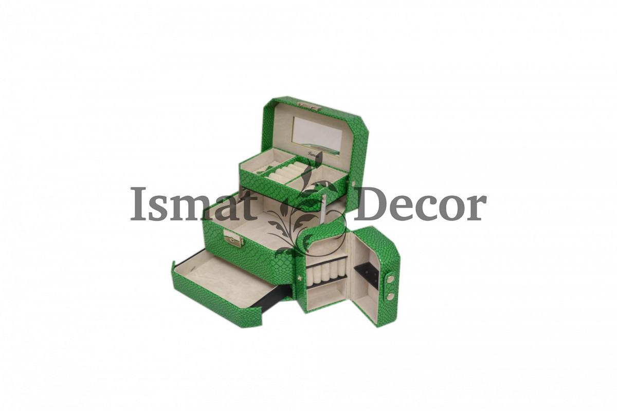 Шкатулка для украшений S-502D2 зеленый