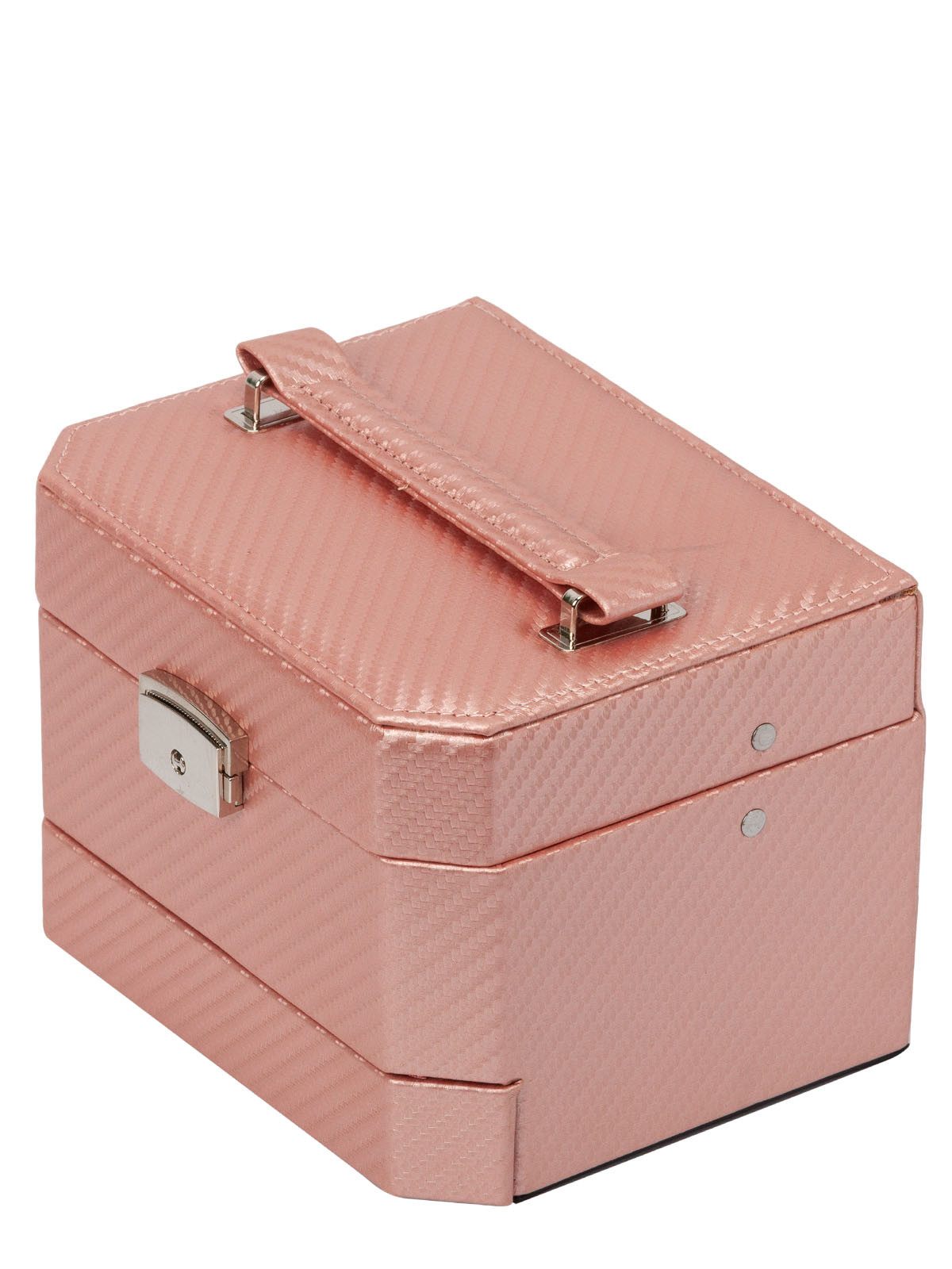 Шкатулка для украшений S-502D2-6PW светло-розовый