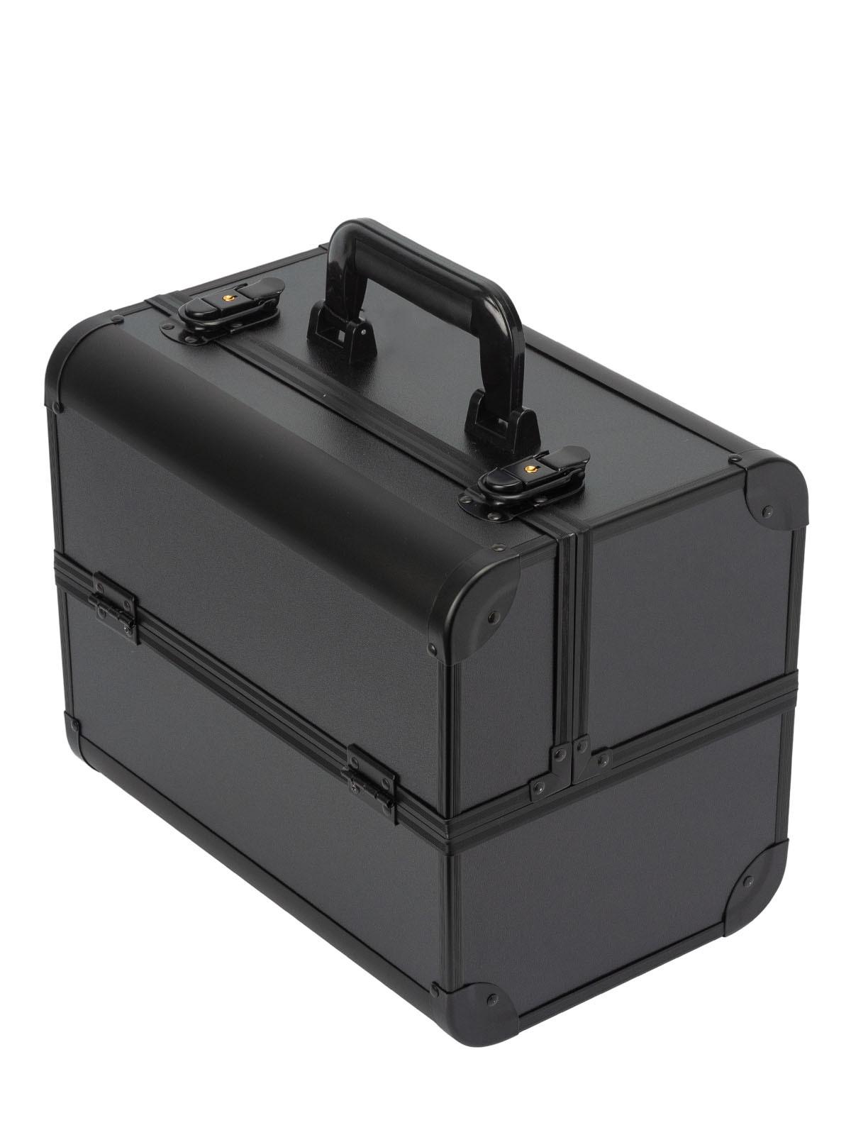 Металлический кейс для визажистов S-7364BL черный