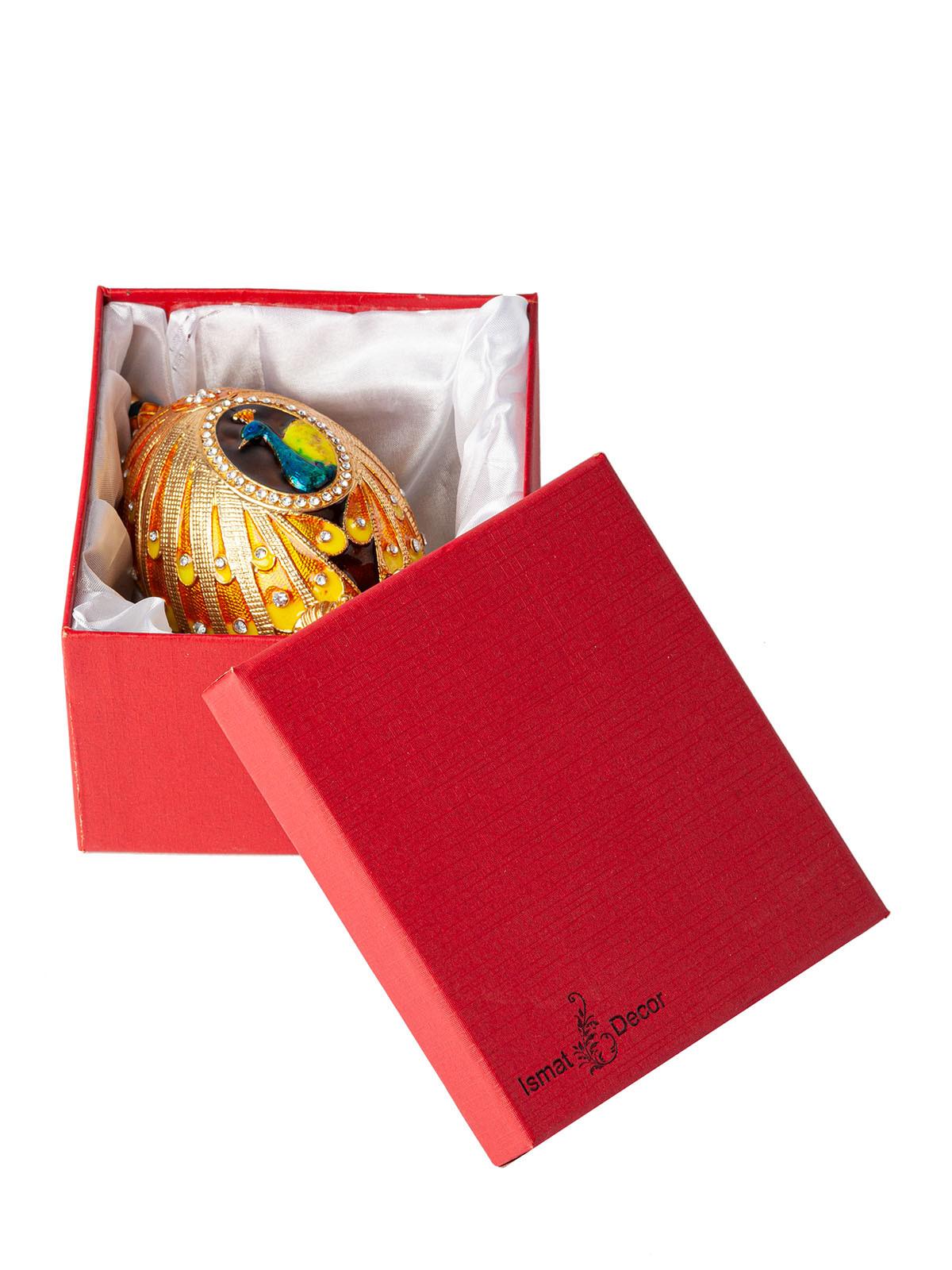 Металлическая шкатулка для украшений S-5300 желтый