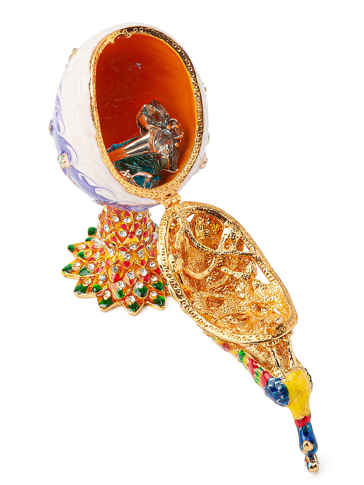 Шкатулка для украшений Яйцо Фаберже S-1486 фиолетовый