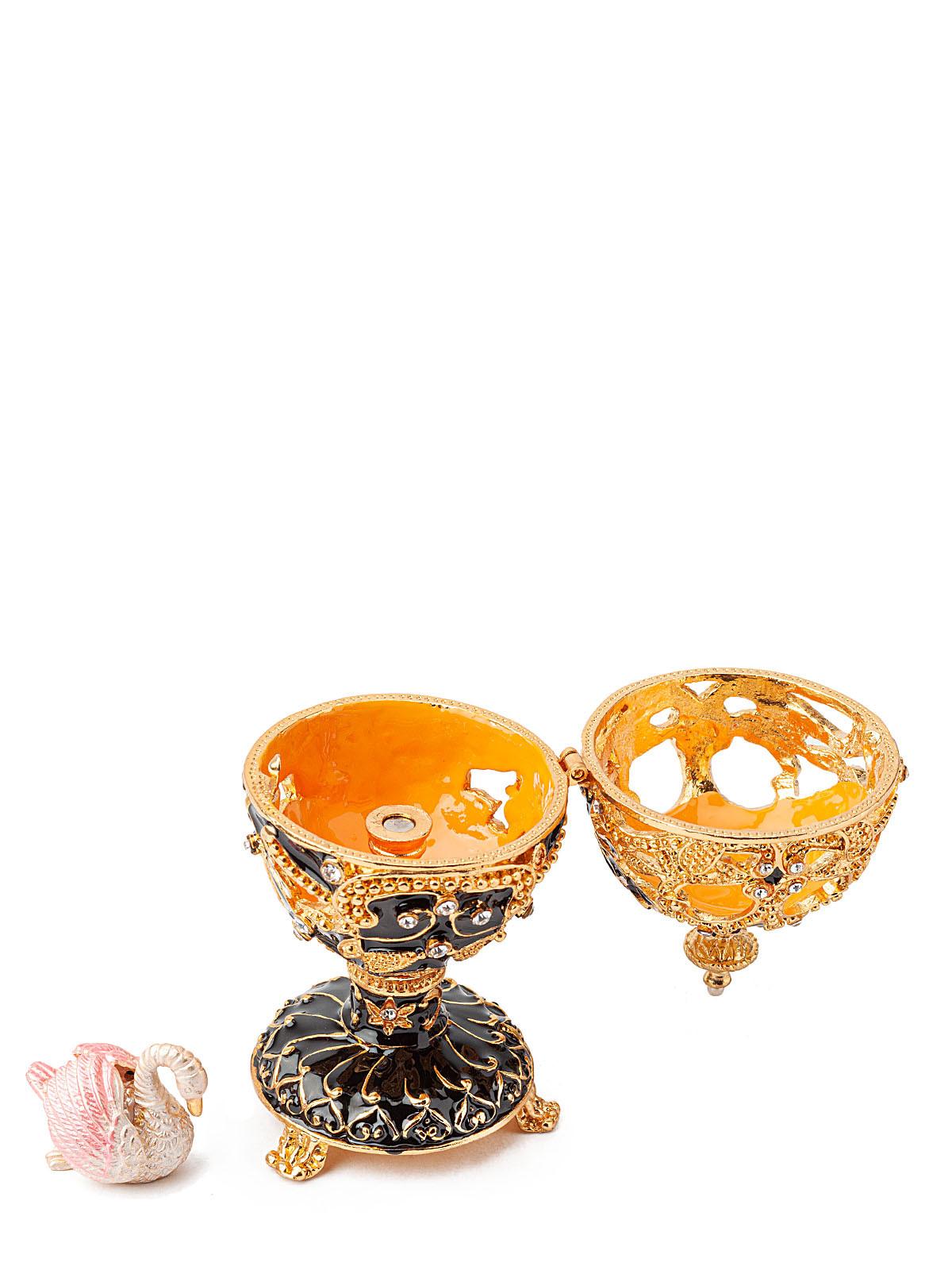 Шкатулка сувенирная Яйцо Фаберже S-5301 черный