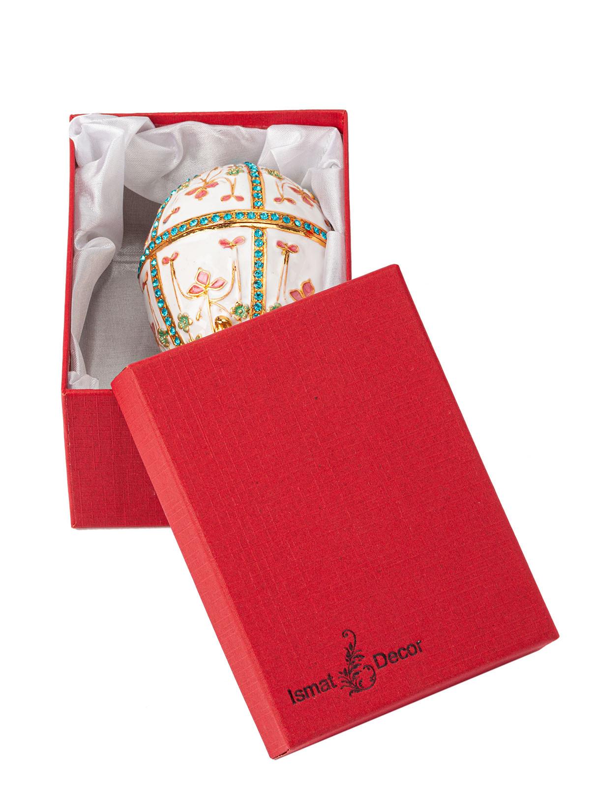 Шкатулка для украшений Яйцо Фаберже S-3313 белый