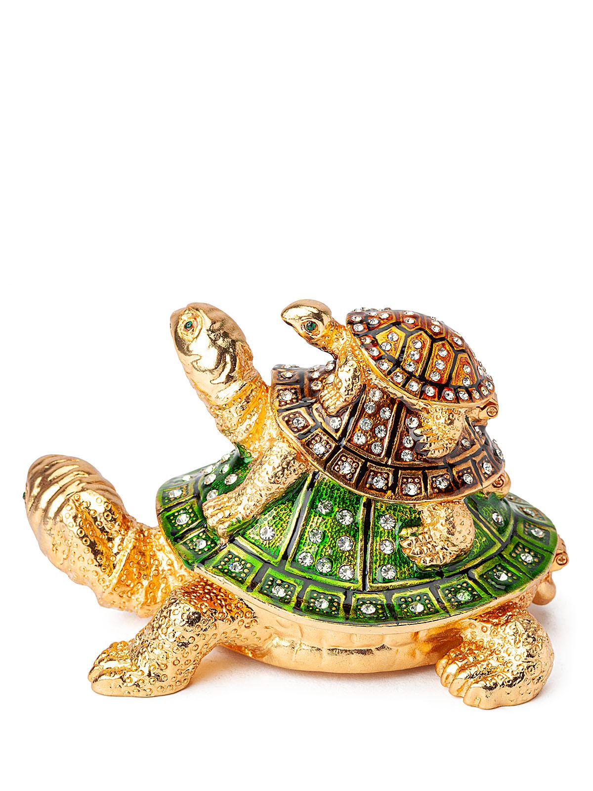 Шкатулка для украшений Черепаха S-1432-002 зеленый
