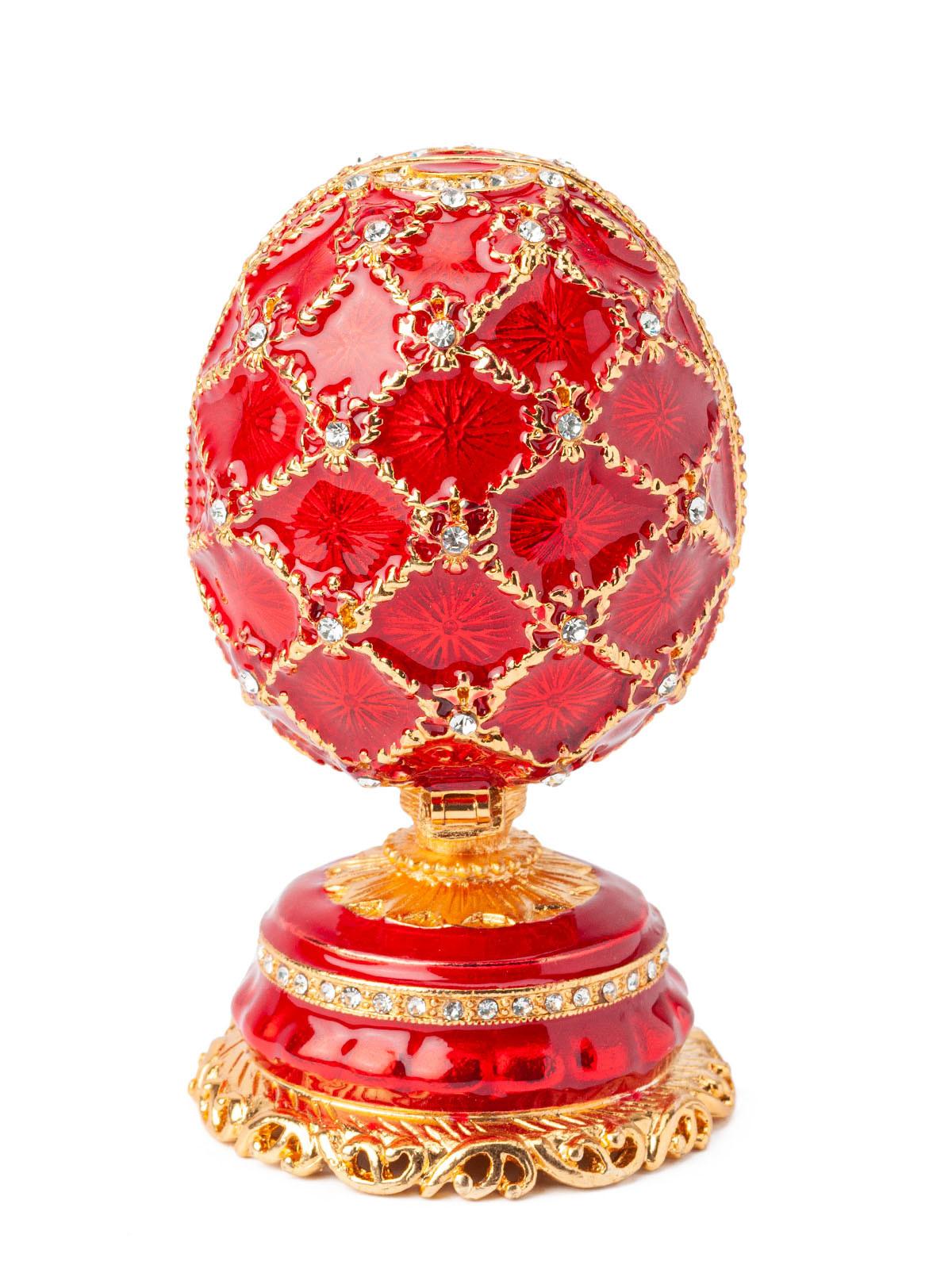 Шкатулка для украшений Яйцо Фаберже S-4990B красный