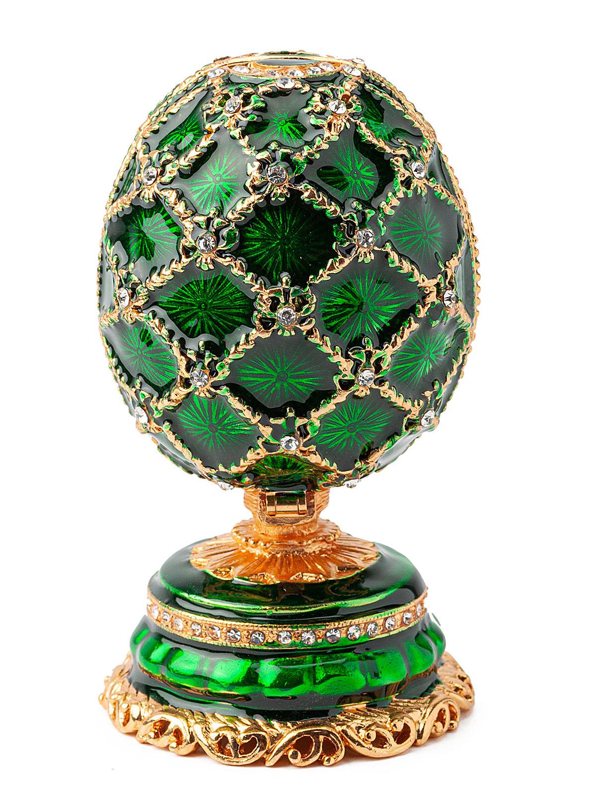 Шкатулка для украшений Яйцо Фаберже S-4990B зеленый