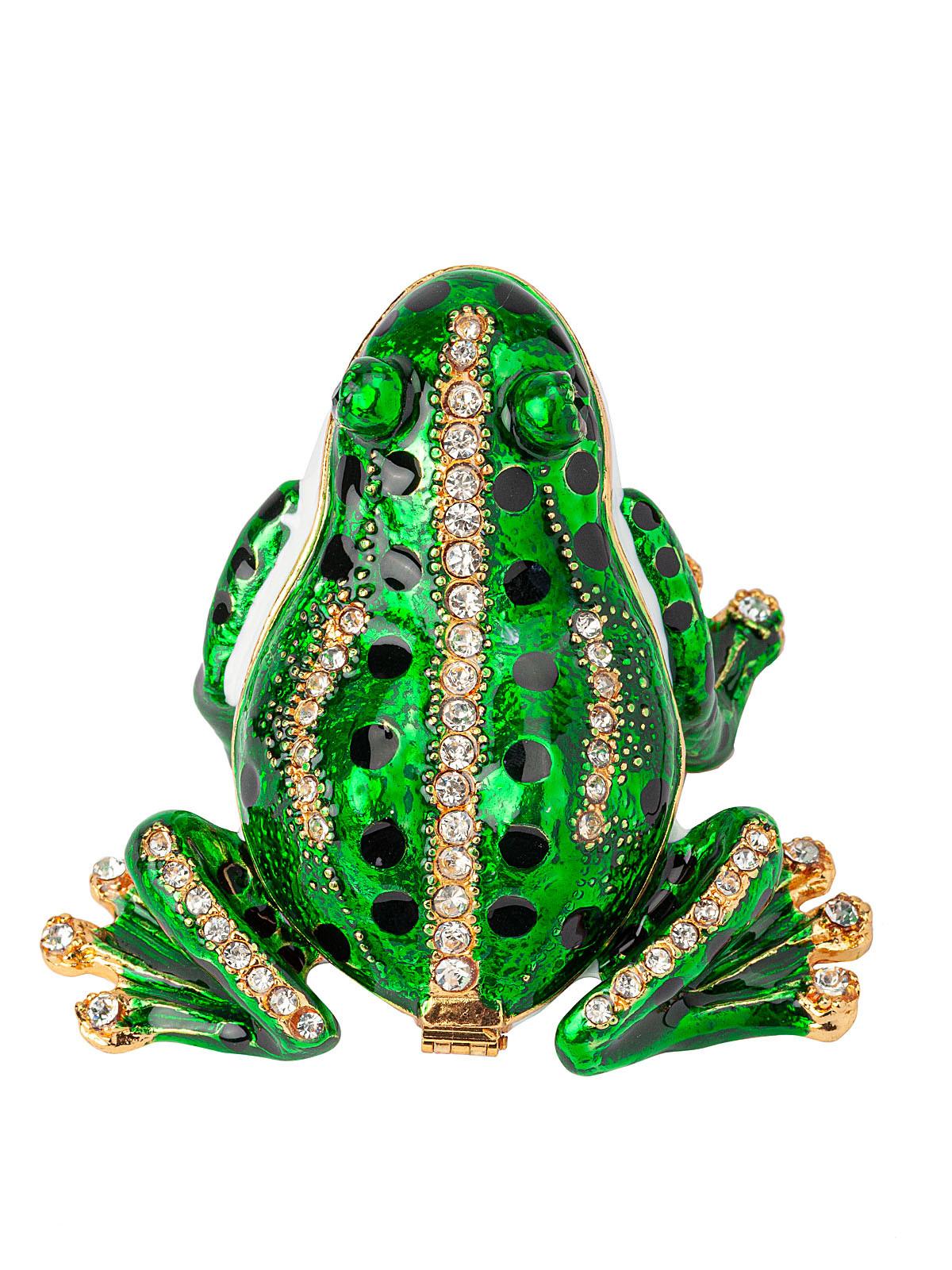 Шкатулка для украшений Лягушка S-3244 зеленый