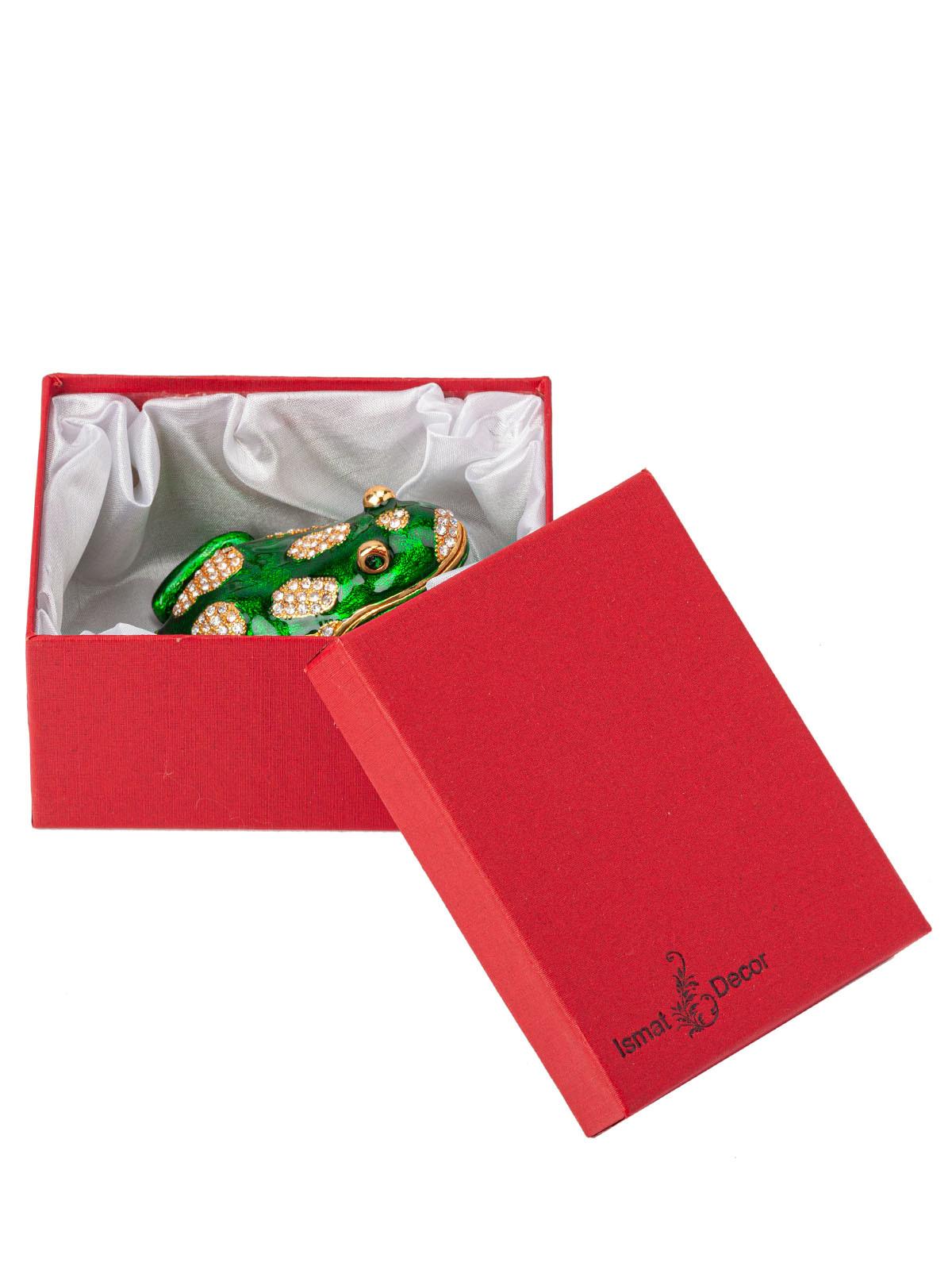 Шкатулка для украшений Лягушка S-3970 зеленый