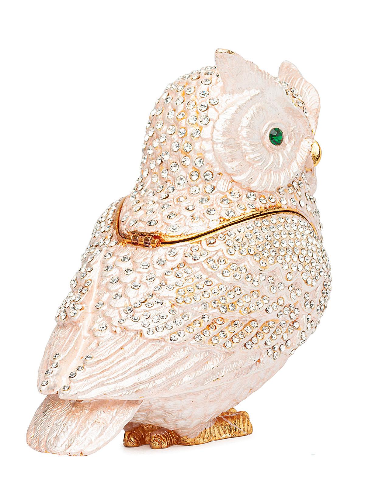 Шкатулка для украшений Сова S-4964B белый