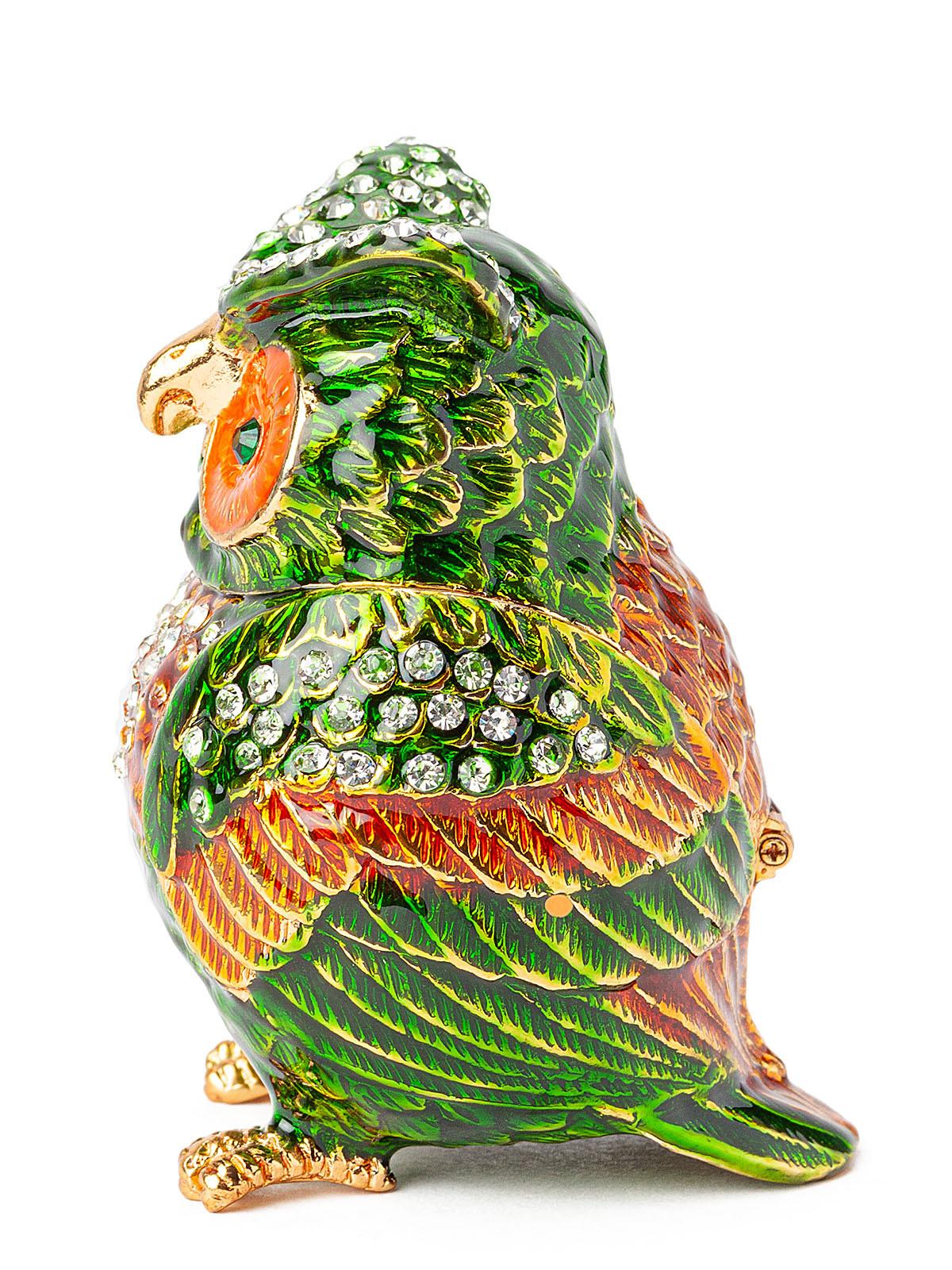 Шкатулка для украшений Сова S- 4779-003 зеленый