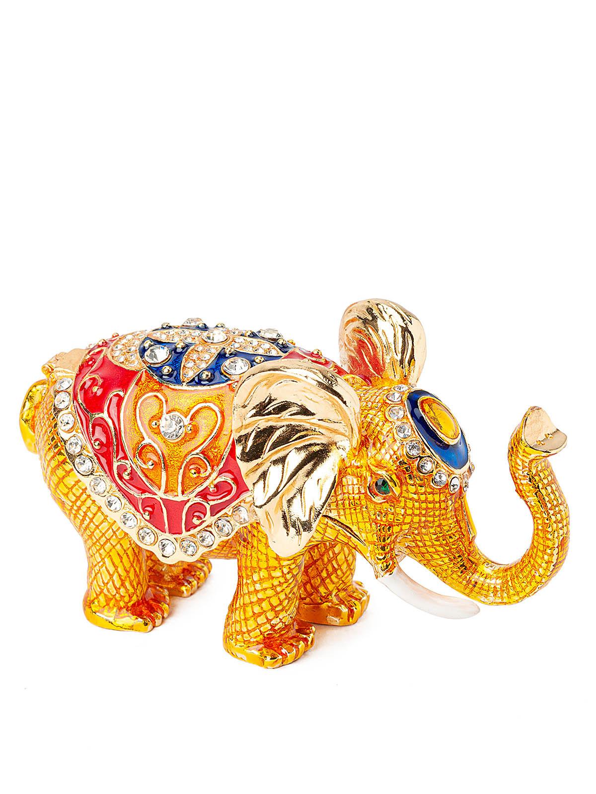 Шкатулка для украшений Слон S-4507А золотистый