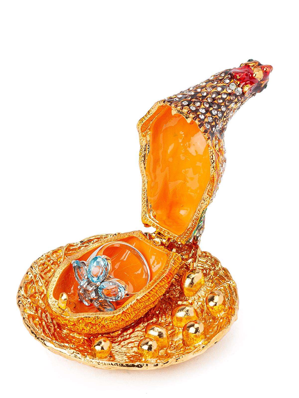 Шкатулка для украшений Курочка S-286-4 золотистый