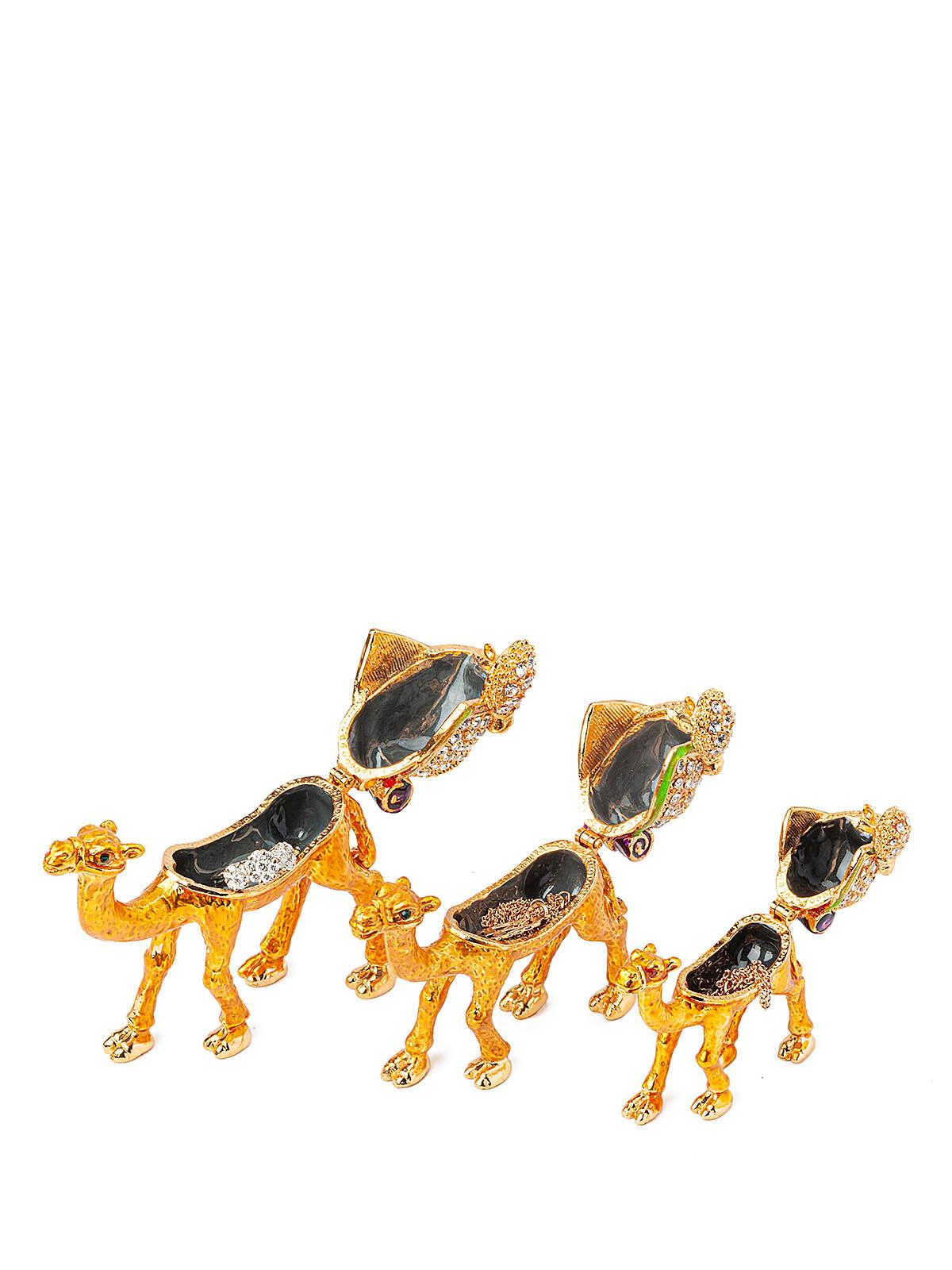 Шкатулка для украшений Верблюд S-4873 золотистый