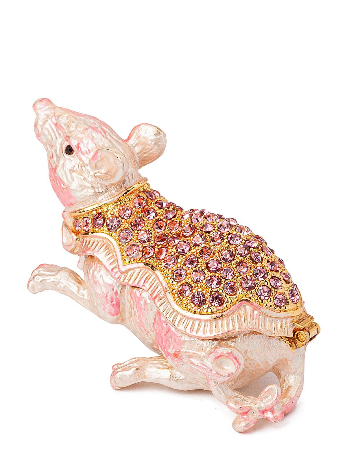 Шкатулка для украшений Символ 2020 года S-878 розовый