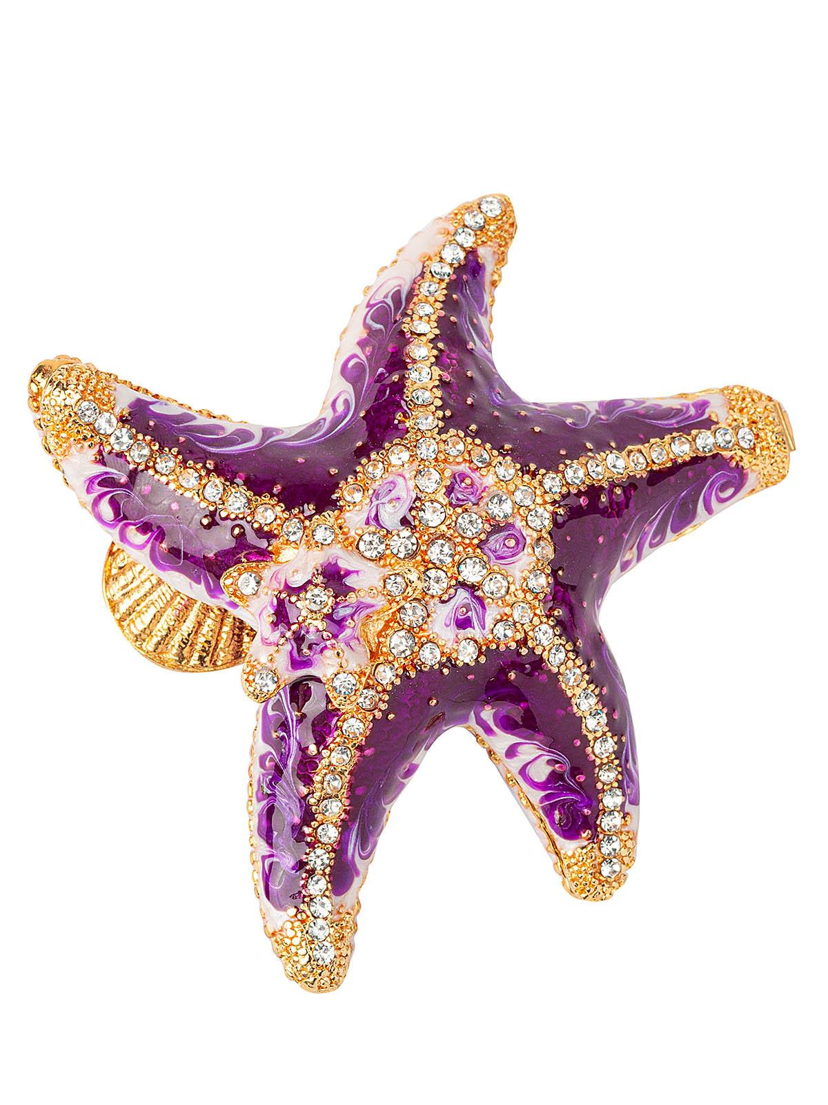Шкатулка для украшений Звезда S-4491 фиолетовый