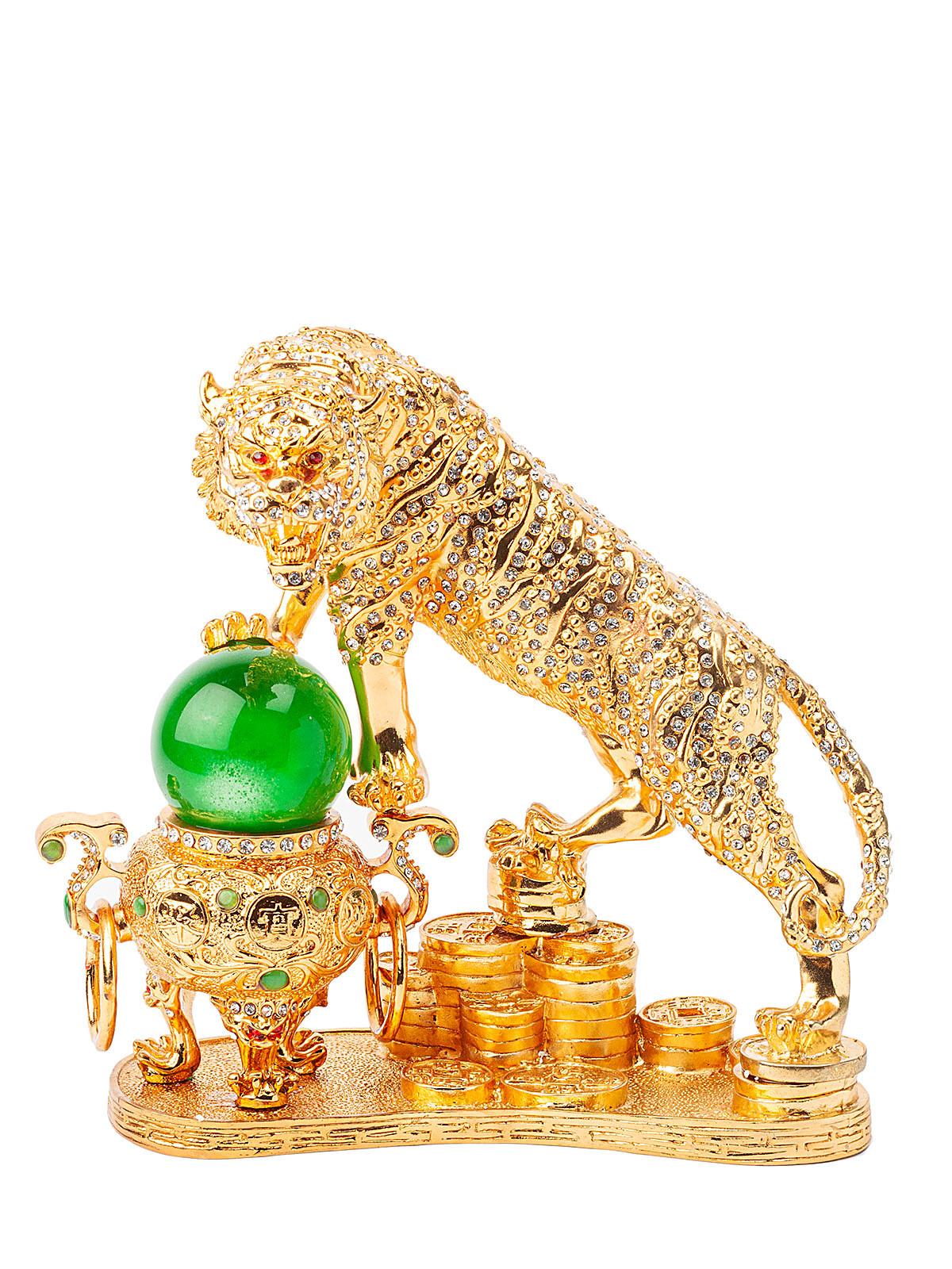 Статуэтка сувенирная Тигр S-10000 золотистый