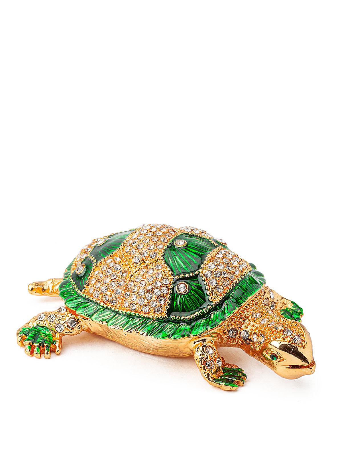 Шкатулка для украшений Черепаха S-4792 зеленый