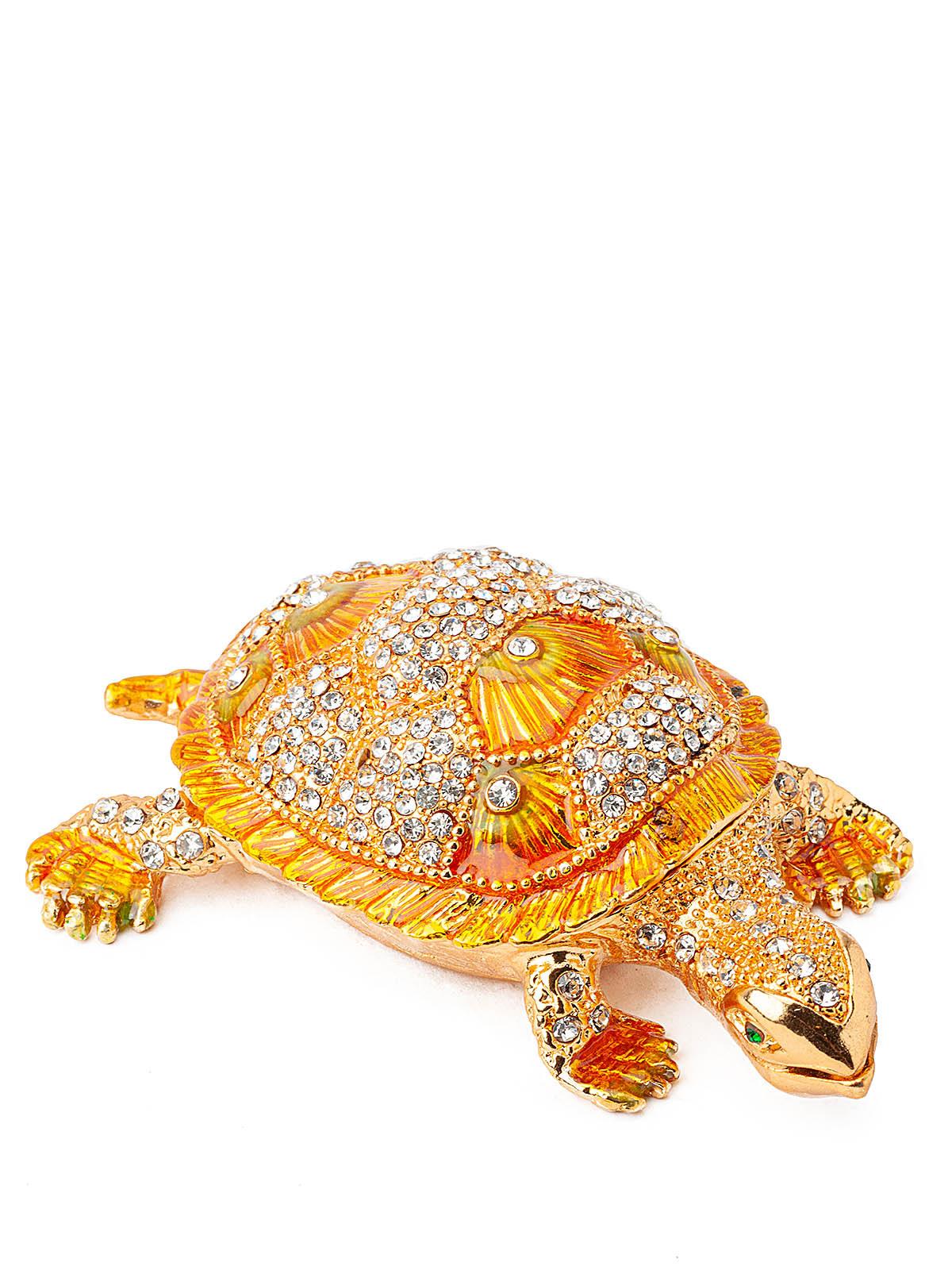 Шкатулка для украшений Черепаха S-4792 желтый