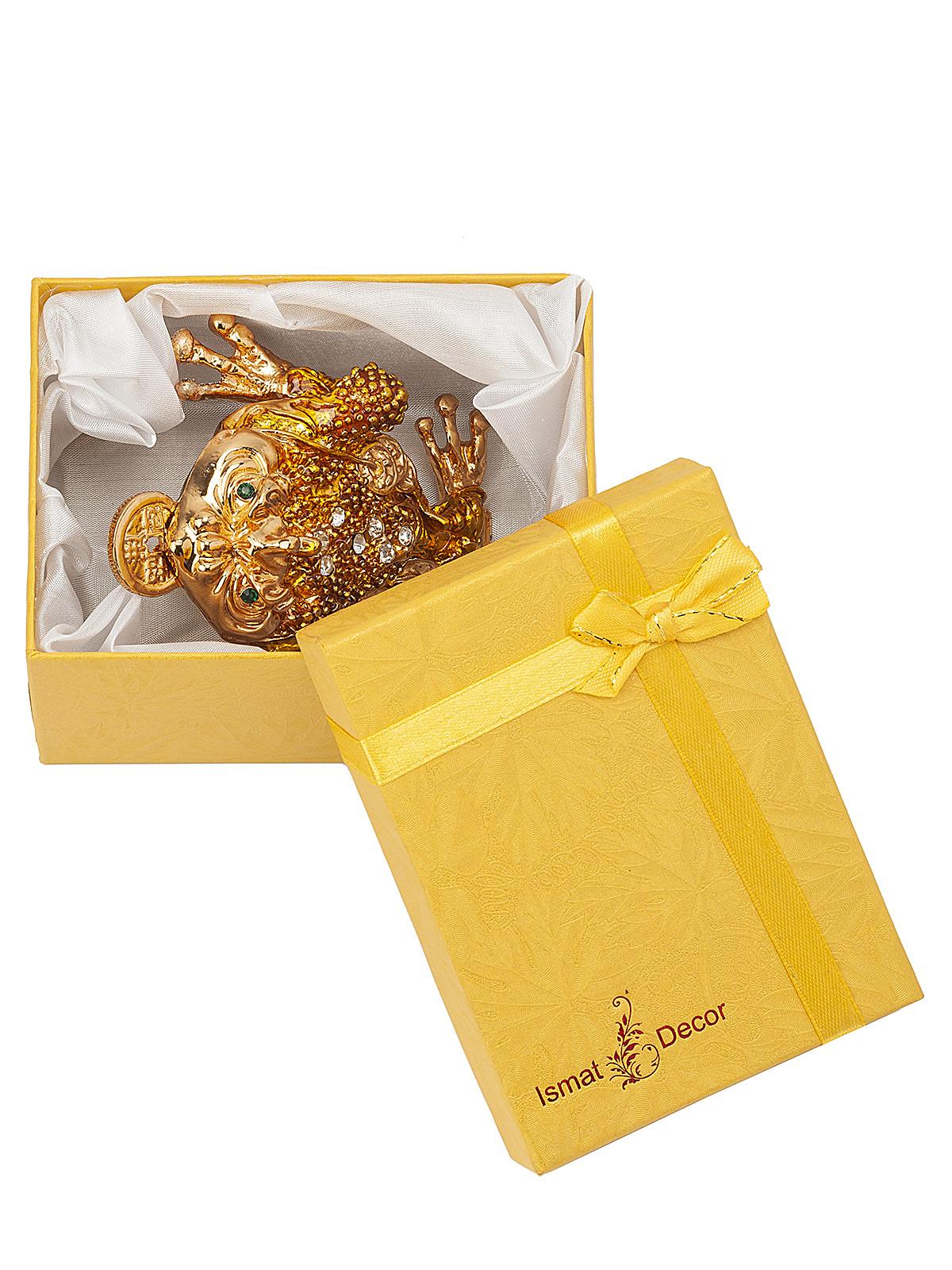 Шкатулка для украшений Лягушка S-607B2 золотистый