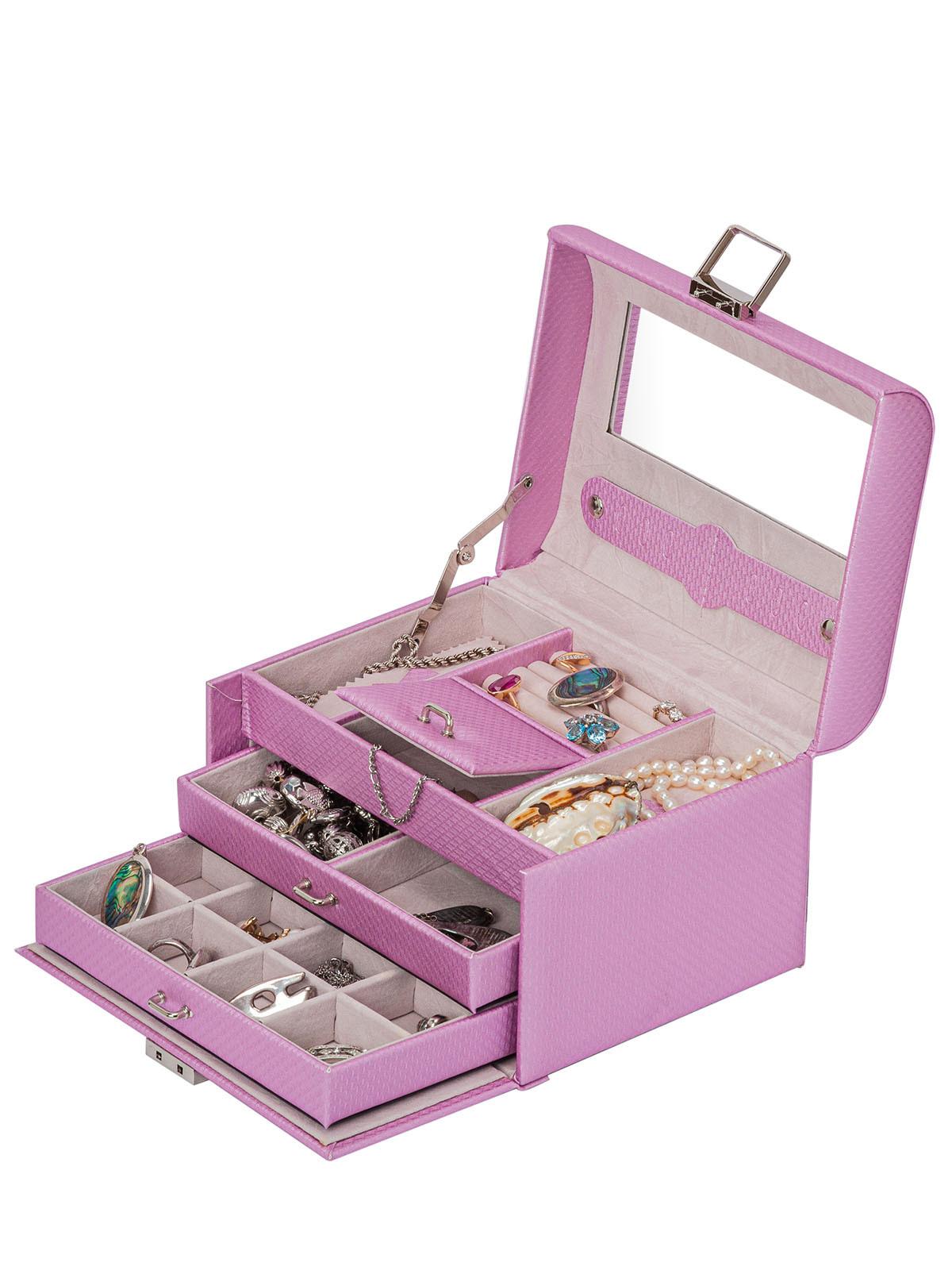 Шкатулка для украшений S-499-1 светло-розовый