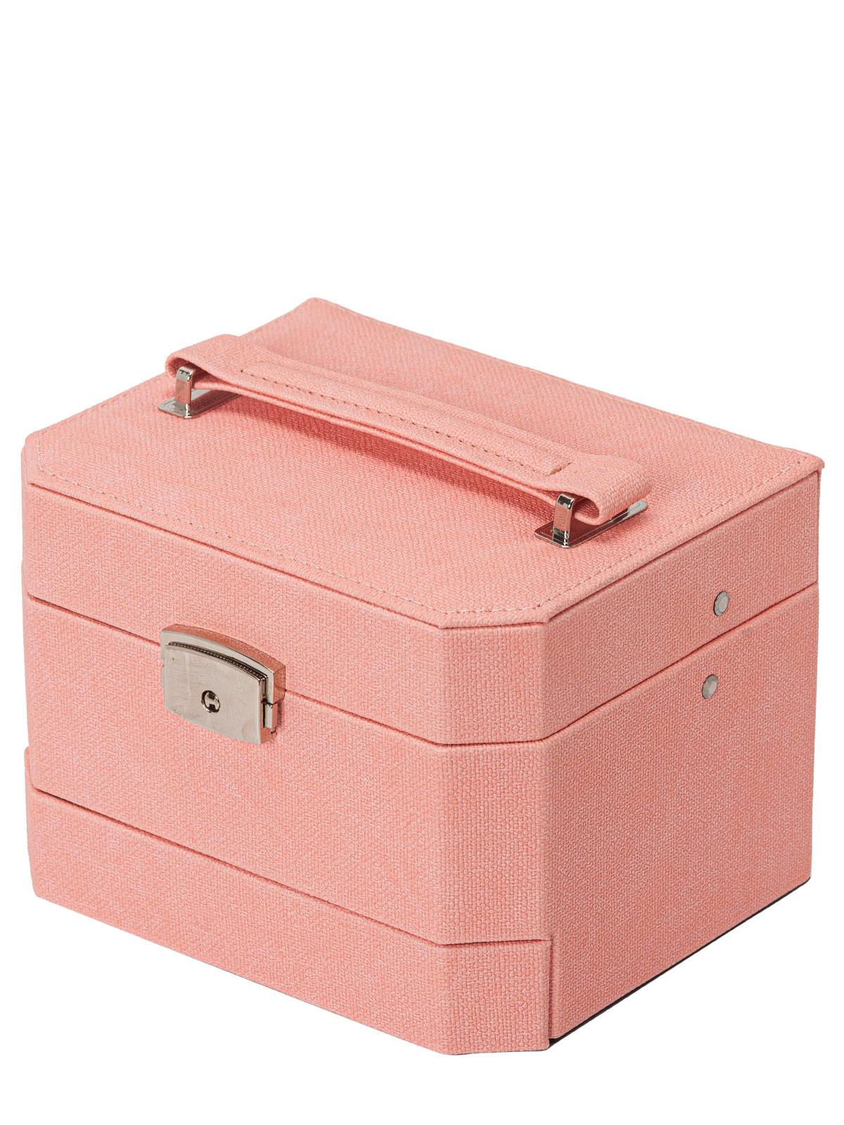 Шкатулка для украшений S-502D2-7WP светло-розовый