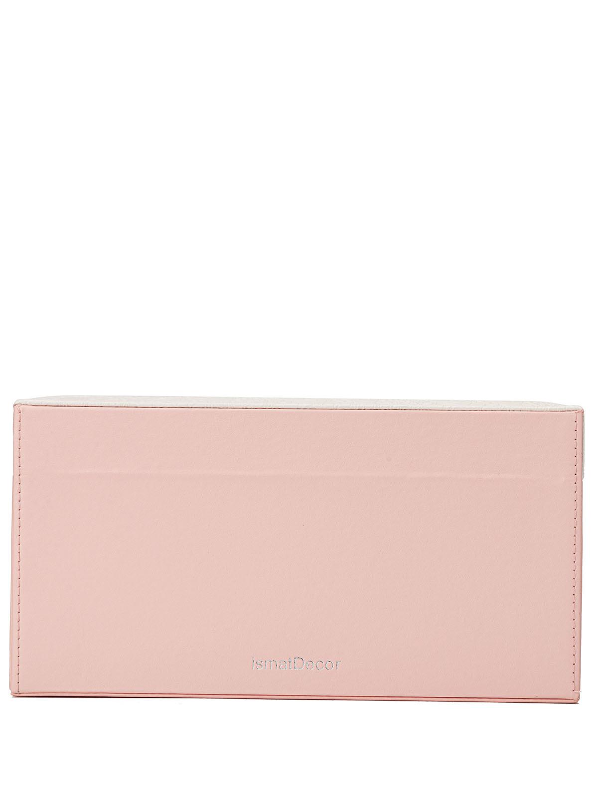 Шкатулка для украшений S-702-WP бело-розовый