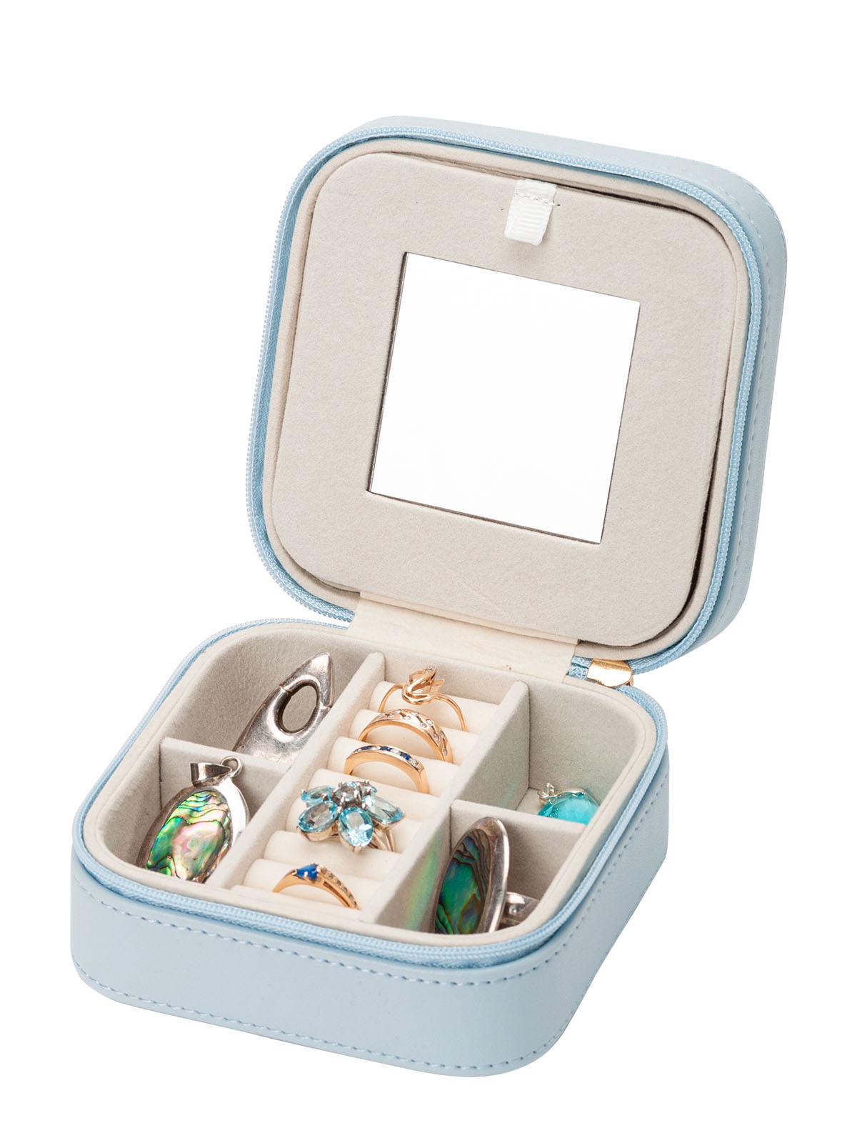 Миниатюрная шкатулка для украшений S-660BLU голубой