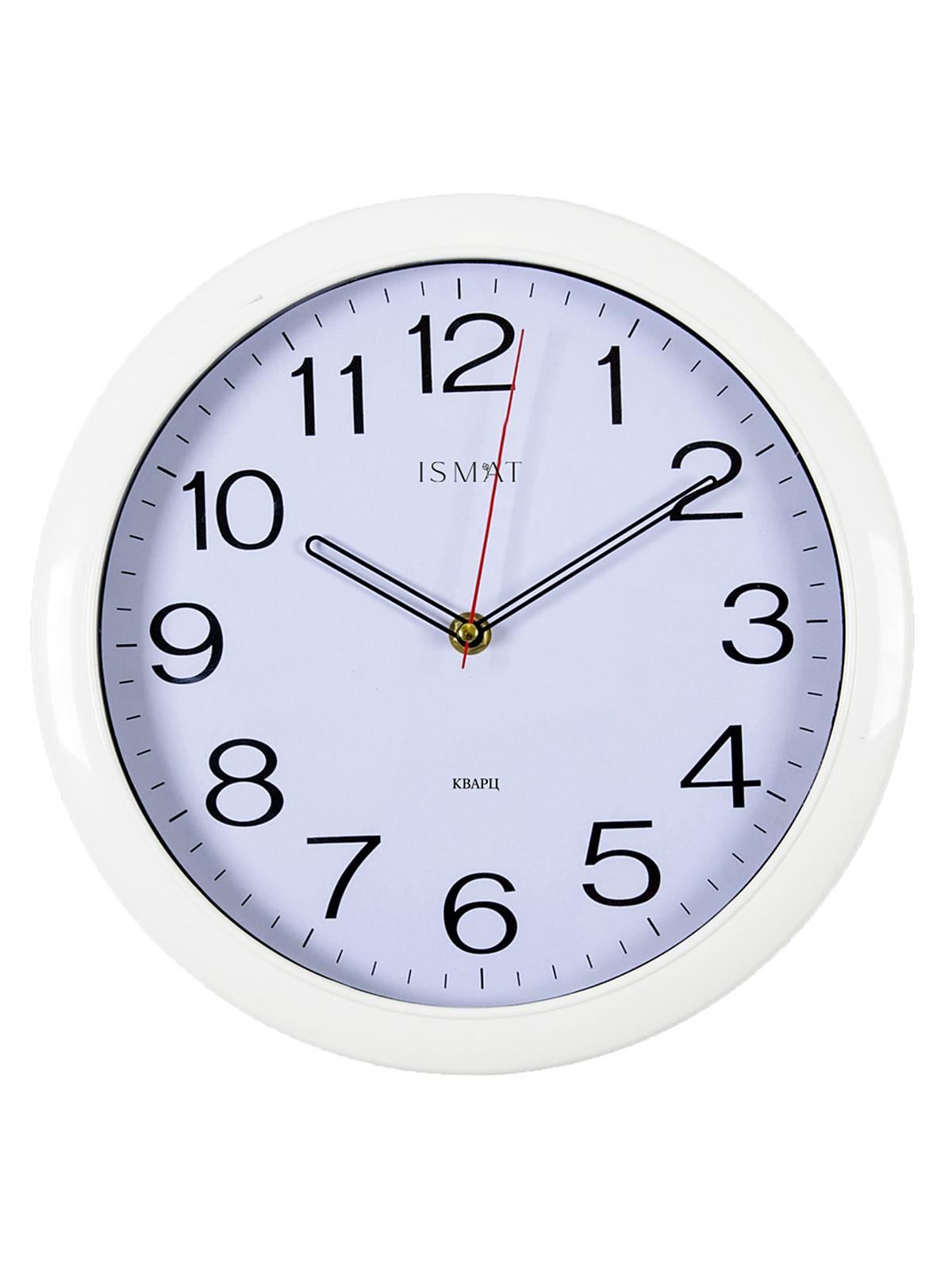 Часы настенные круг d=29см, корпус белый