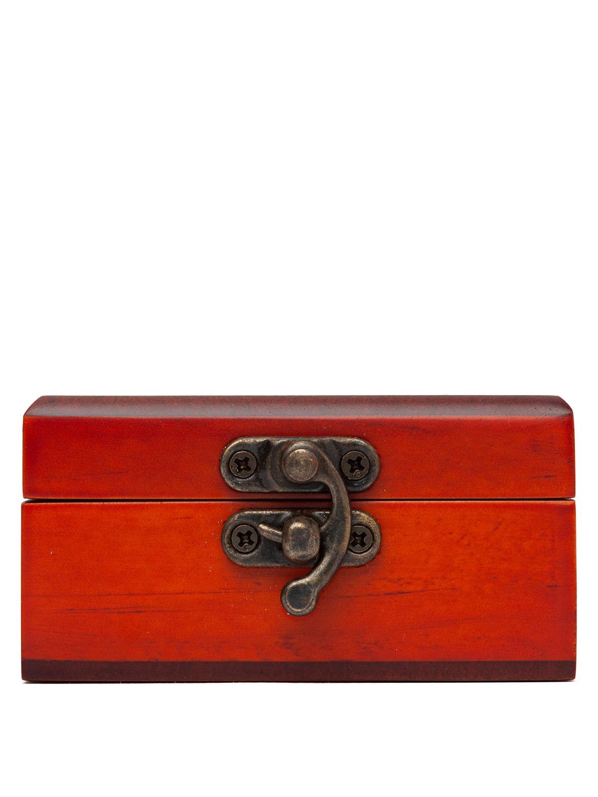 Деревянная шкатулка для украшений и мелких предметов S-518 коричневый
