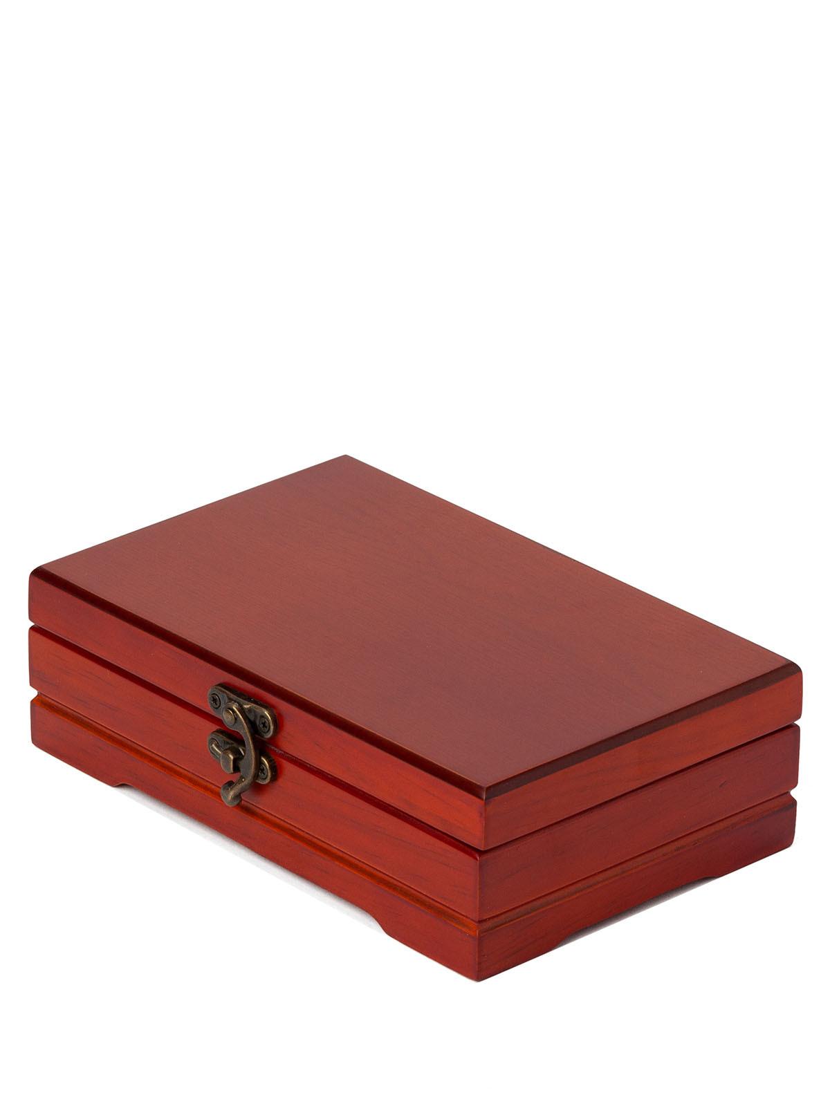 Деревянная шкатулка для украшений S-670 коричневый