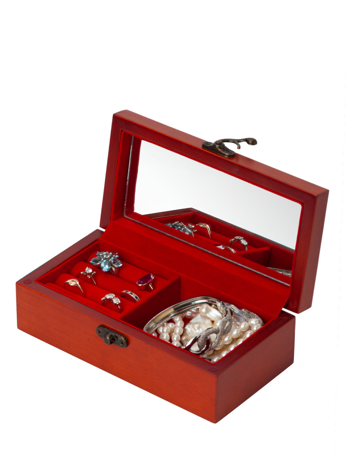 Деревянная шкатулка для украшений и мелких предметов S-671A