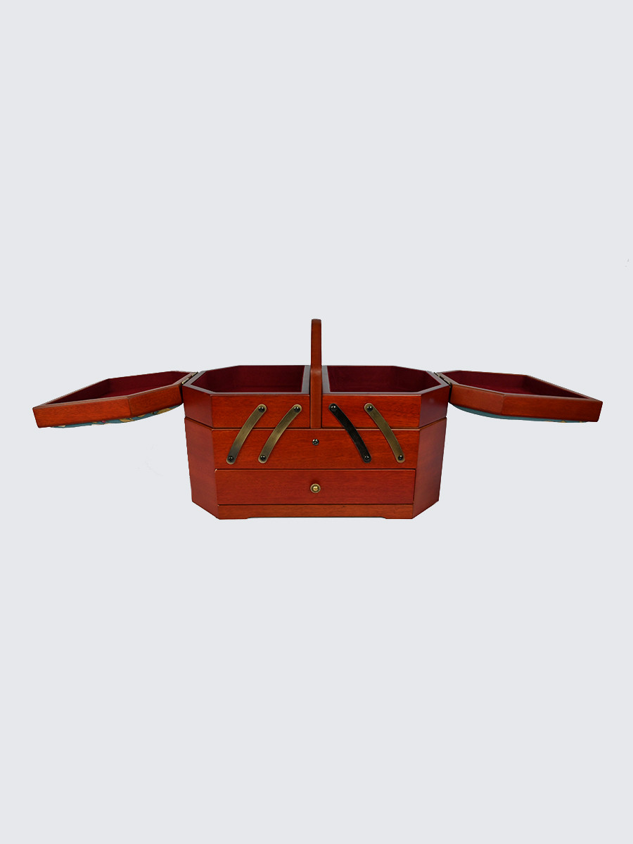 Шкатулка для рукоделия S-152BR коричневый