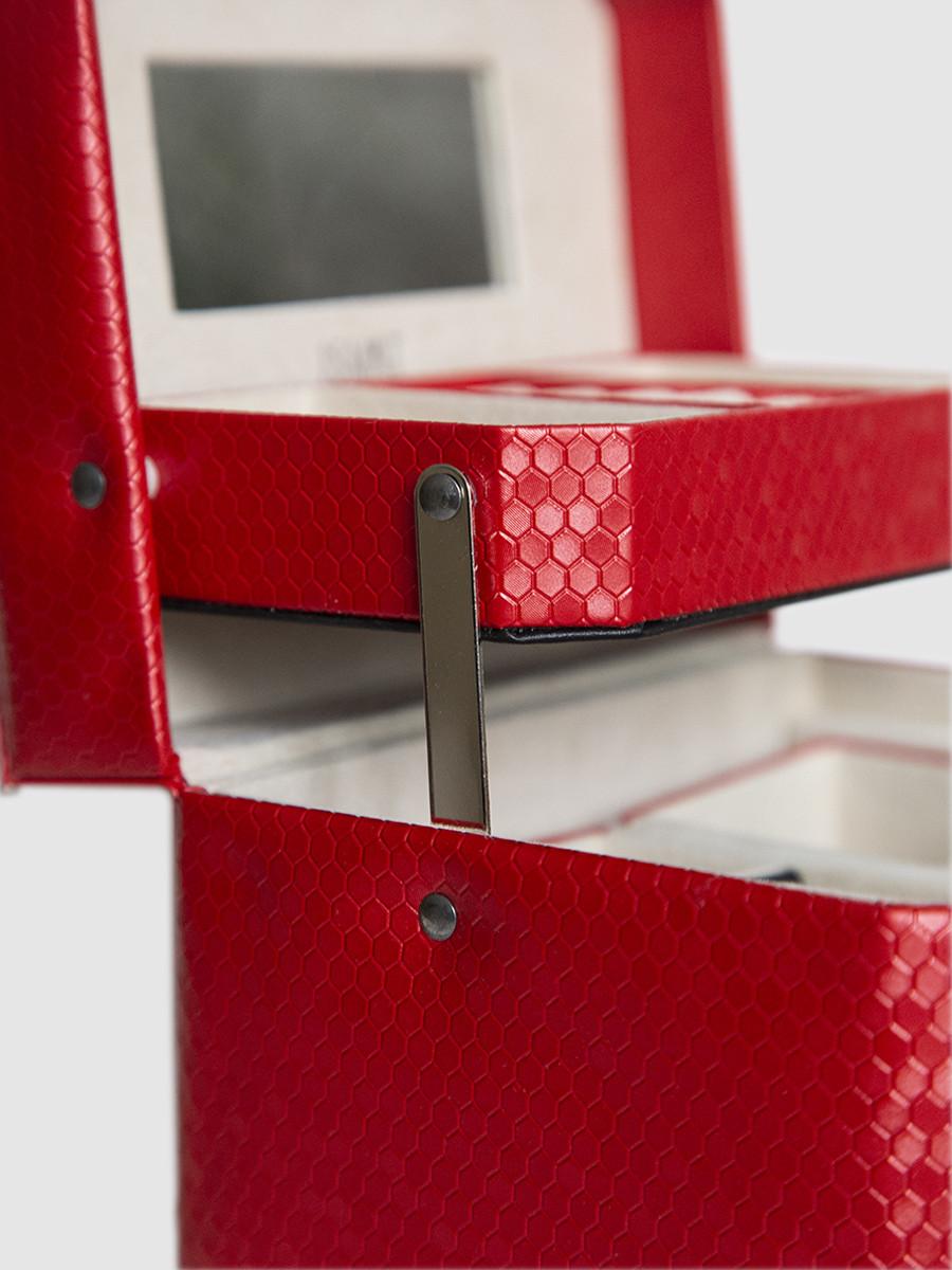Шкатулка для украшений S-502D2-4R красный